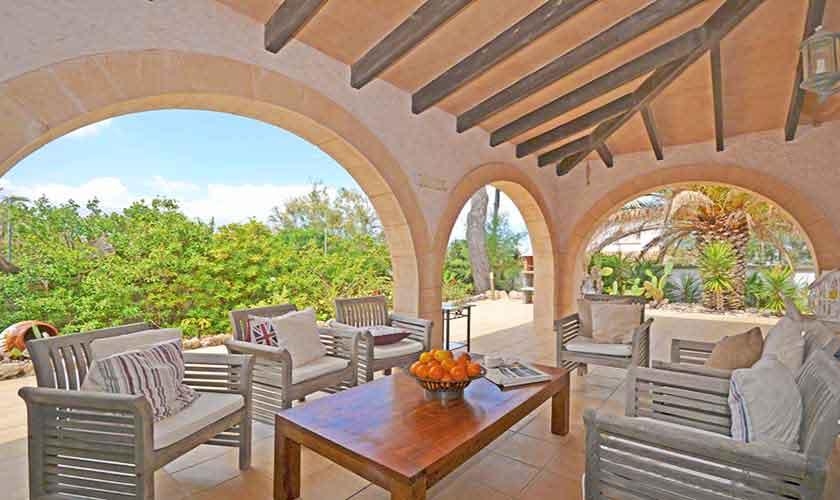 Terrasse Ferienhaus Mallorca Nordküste PM 3720