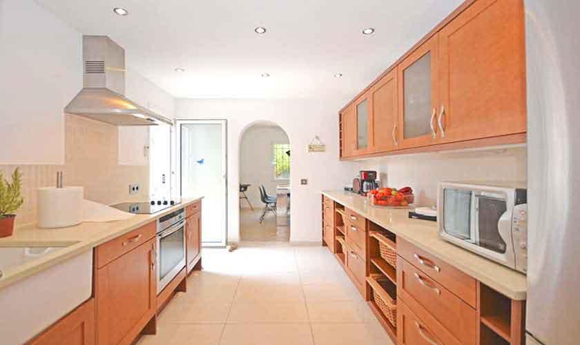 Küche Ferienhaus Mallorca mit Pool PM 3720