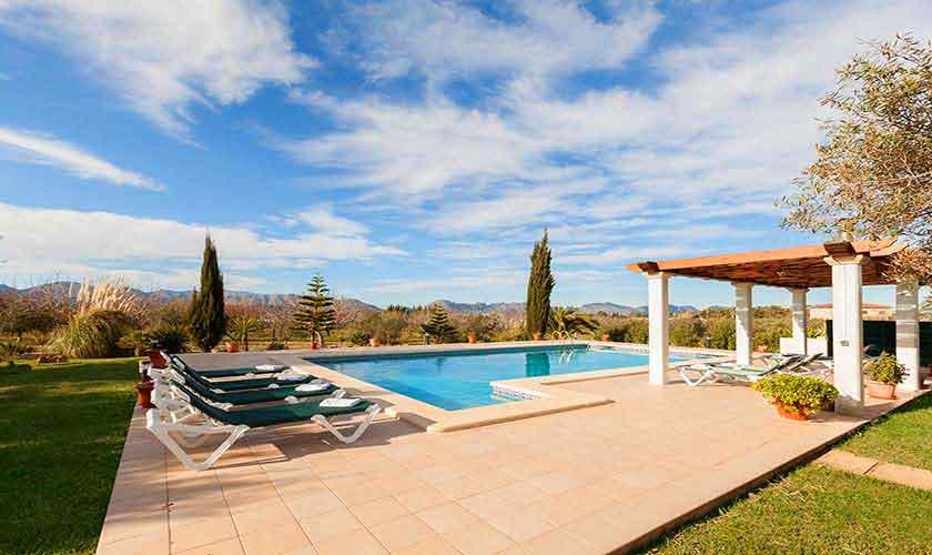 Pool und Terrasse Finca Mallorca 10 Personen PM 3726
