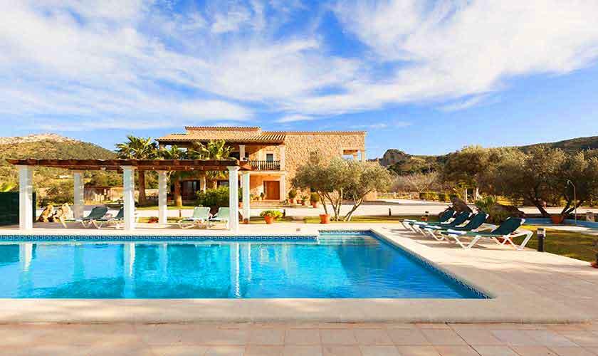 Pool und Finca Mallorca Norden PM 3726