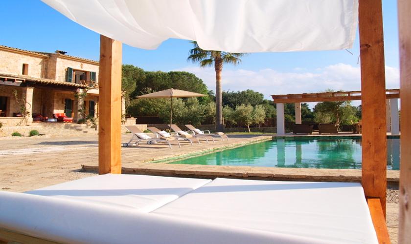 Poolblick Finca Mallorca Norden für 8 - 10 Personen PM 3727