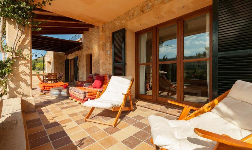 Terrasse Finca Mallorca für 8 - 10 Personen PM 3727