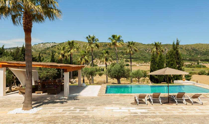 Pool und Terrasse Finca Mallorca für 8 - 10 Personen PM 3727