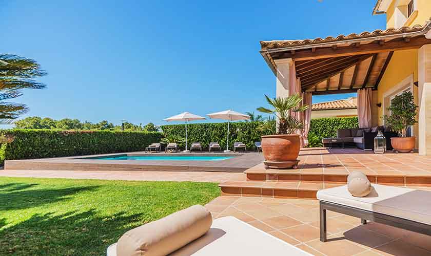 Terrasse Ferienvilla Mallorca Nordküste PM 3741
