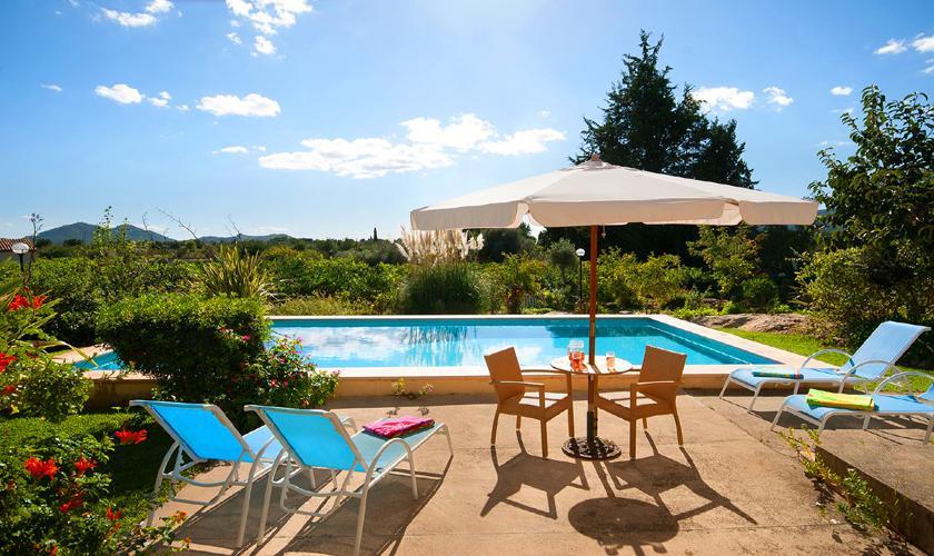 Poolblick Finca Mallorca mit Pool PM 3744