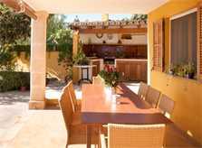 Terrasse Finca Mallorca mit Pool PM 3744