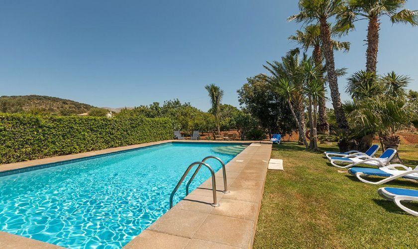 Poolblick Finca Mallorca Pollensa PM 3747