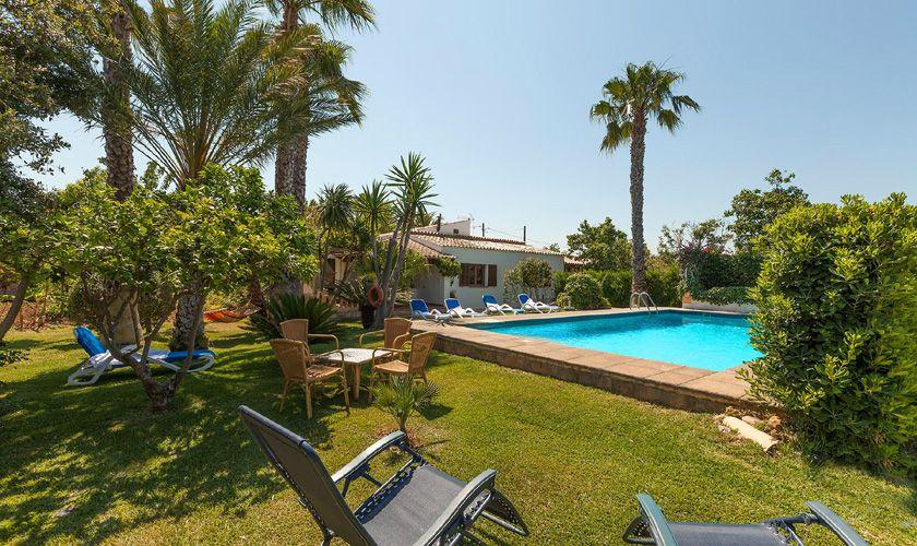 Pool und Garten Finca Mallorca Pollensa PM 3747