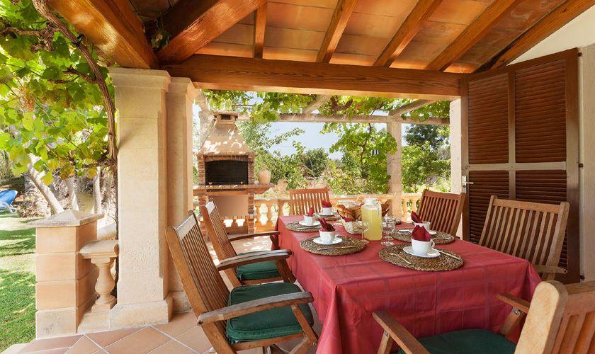 Terrasse Finca Mallorca Pollensa PM 3747