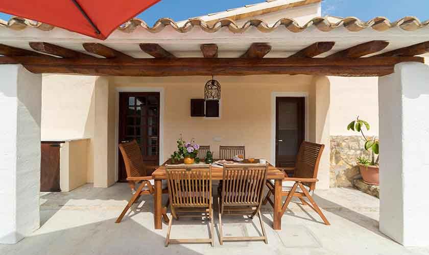 Überdachte Terrasse Finca Mallorca Norden PM 3771