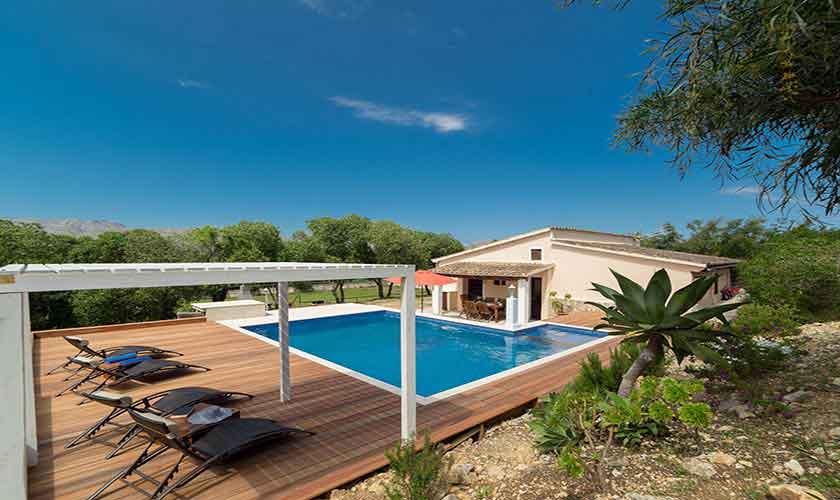 Poolblick Ferienhaus Mallorca 6 Personen PM 3771