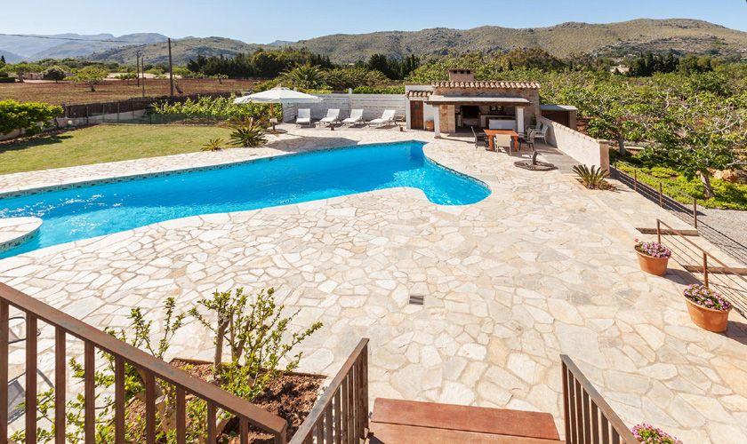 Poolblick Finca Mallorca Pollenca für 6 Personen PM 3781
