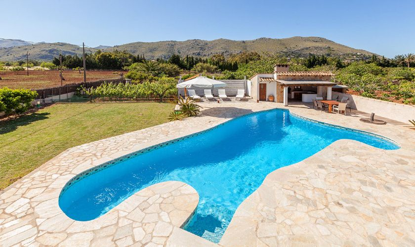 Pool und Poolhaus Finca Mallorca 6 Personen PM 3781
