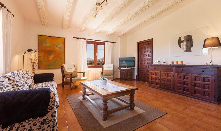 Wohnraum Ferienfinca Mallorca Norden für 6 Personen PM 3781