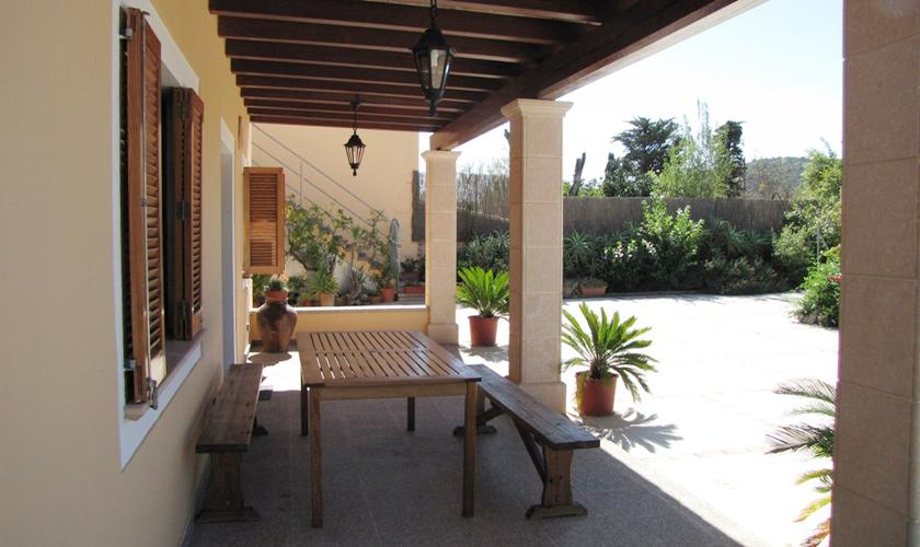 Terrasse Ferienhaus Mallorca Norden PM 379