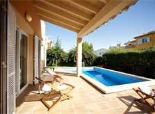 Terrasse und Pool Ferienhaus Mallorca PM 3803
