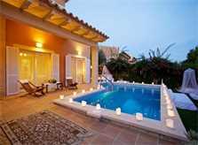 Pool und Ferienhaus Mallorca am Abend PM 3803