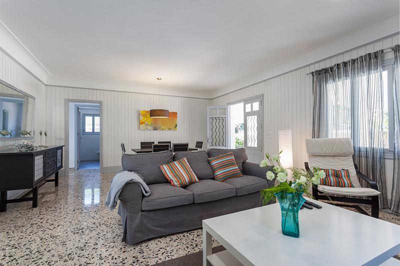 Wohnraum Ferienhaus Mallorca Strandnähe Nordküste PM 3804