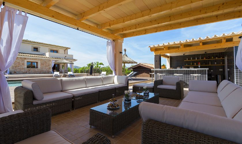 Lounge am Pool Luxusfinca Mallorca PM 3806