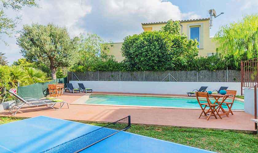 Poolblick Ferienvilla Mallorca Nordküste PM 3807