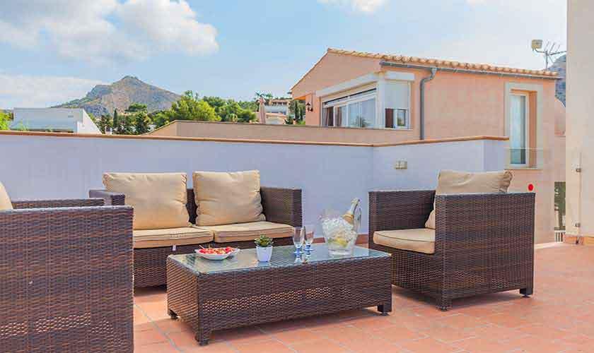 Terrasse Ferienvilla Mallorca Nordküste PM 3807