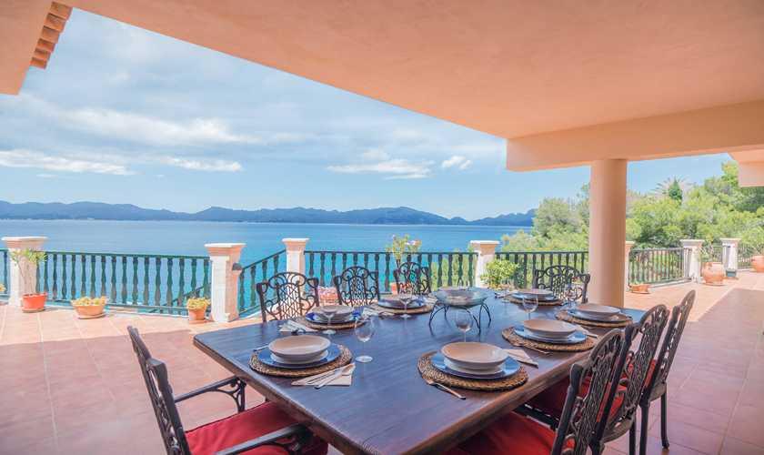 Terrasse Villa Mallorca Nordküste 8 Personen PM 3808