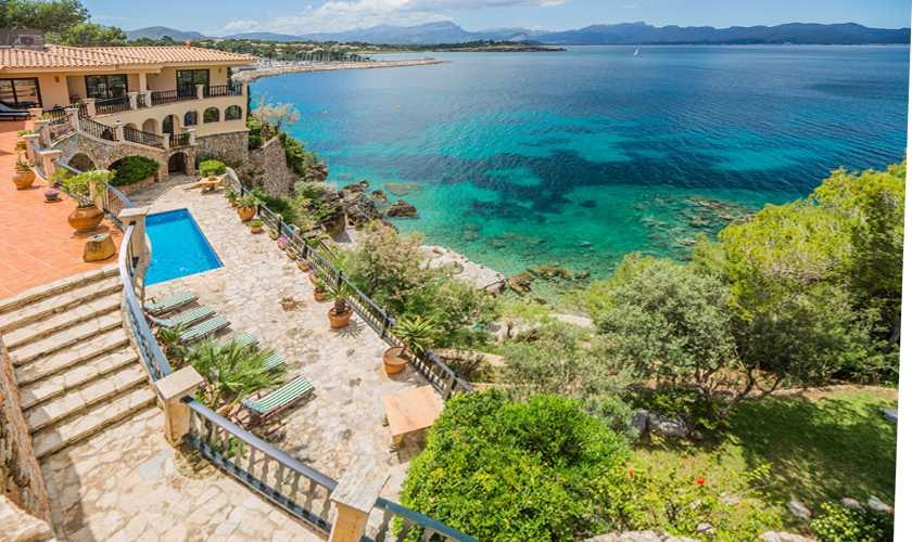 Terrasse Luxusvilla Mallorca Meerblick PM 3808