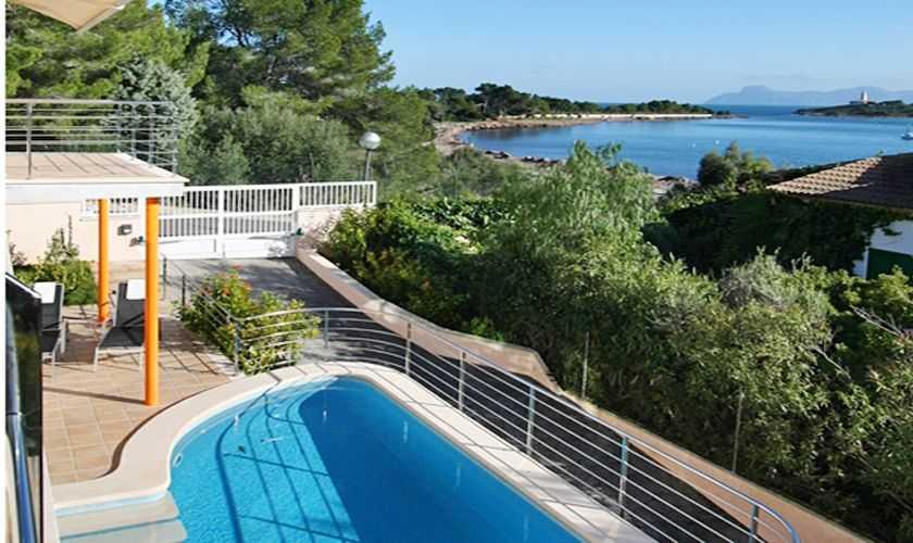 Pool und Meerblick Ferienhaus Mallorca Nordküste PM 380