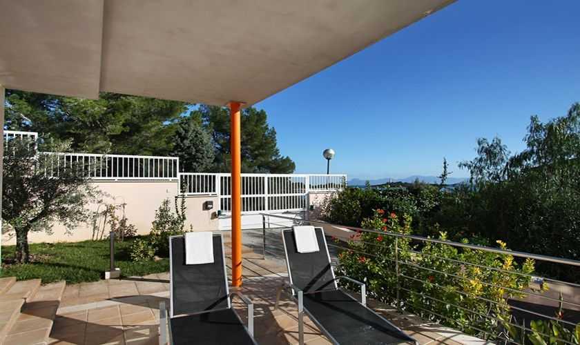 Terrasse Ferienhaus Mallorca Nordküste PM 380