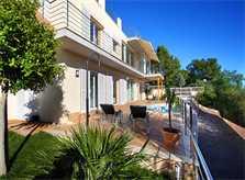 Blick auf die Villa Ferienhaus Mallorca Nordküste PM 380