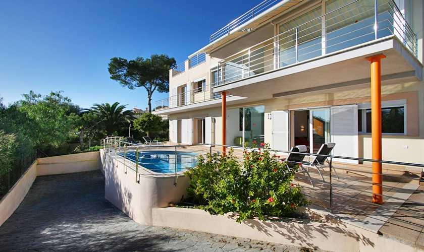 Blick auf das Ferienhaus Mallorca Nordküste PM 380