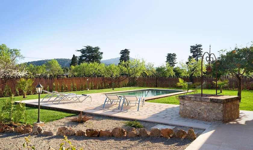 Pool und Garten Finca Mallorca Pollenca PM 381