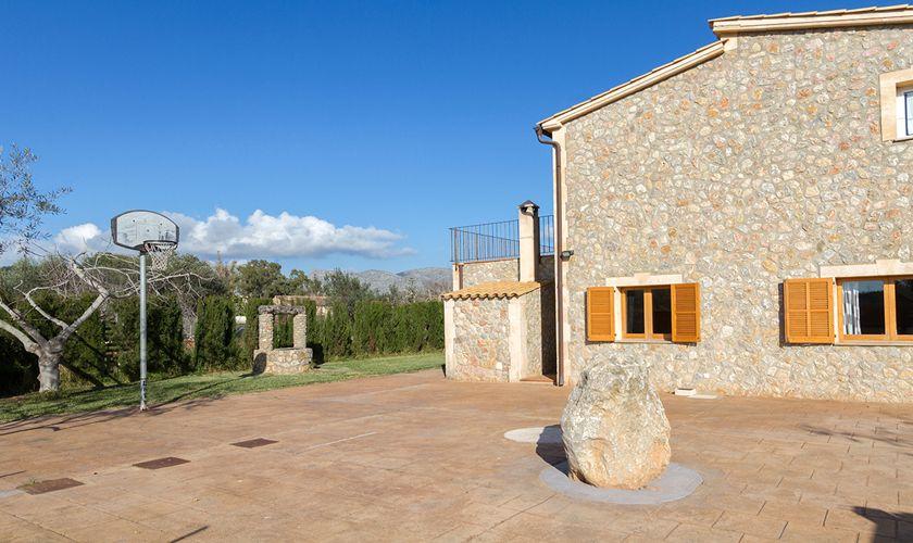 Badketballkorb Ferienfinca Mallorca Pool PM 3841