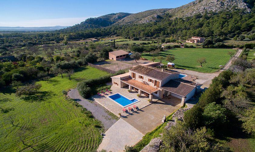 Blick auf die Ferienfinca Mallorca Norden PM 3844