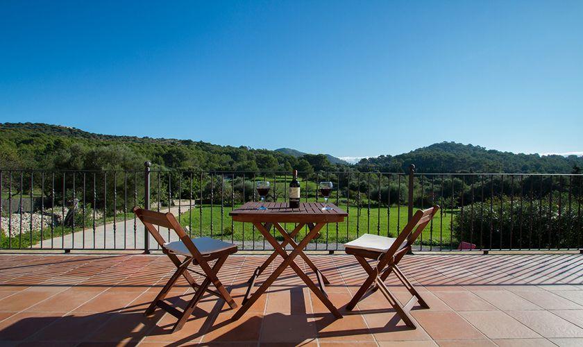 Terrasse oben Ferienhaus Mallorca mit Pool PM 3844