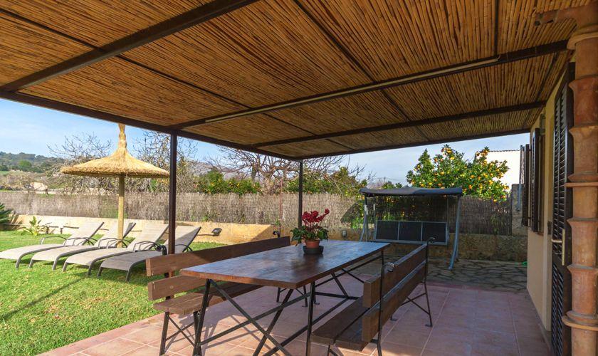 Terrasse Ferienfinca Mallorca 4 Personen PM 3845