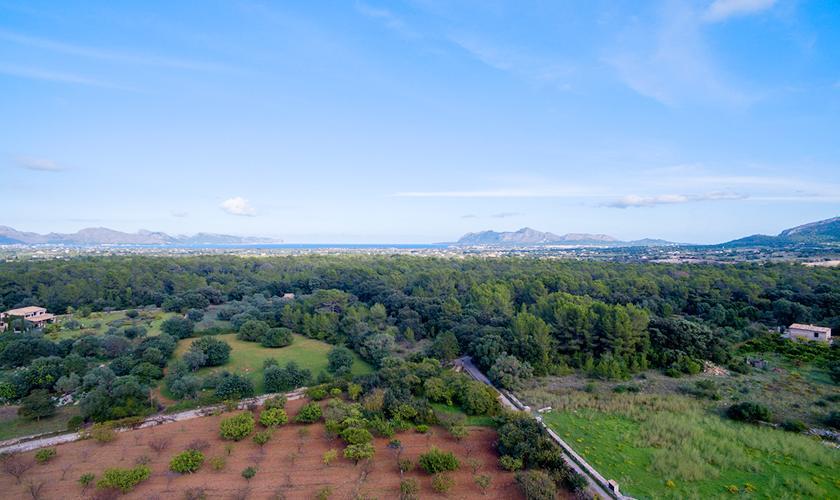 Blick in die Landschaft Finca Mallorca für 8 Personen PM 3846