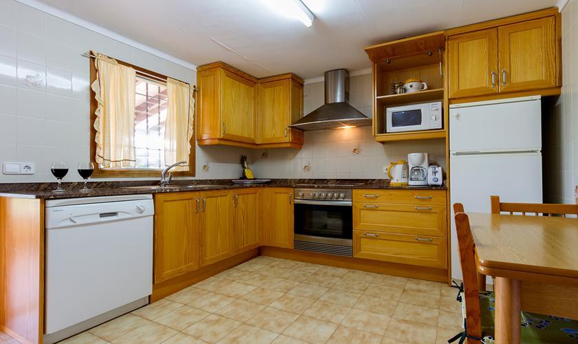 Küche Finca Mallorca mit Pool PM 3846