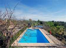 Pool und Blick Finca Mallorca PM 384 für 10 Personen