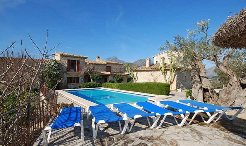Pool und Liegen Finca Mallorca PM 384 für 10 Personen