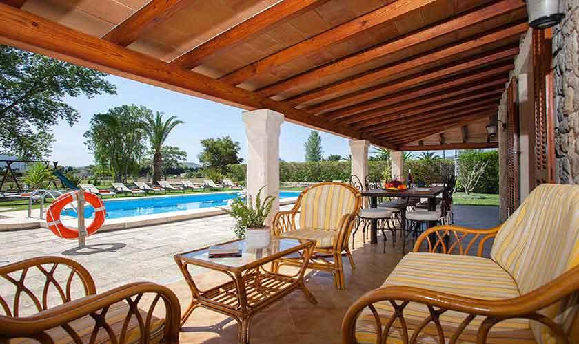 Terrasse Finca Mallorca 8 Personen PM 3855