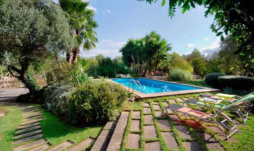 Garten und Pool Finca Mallorca Norden PM 3864