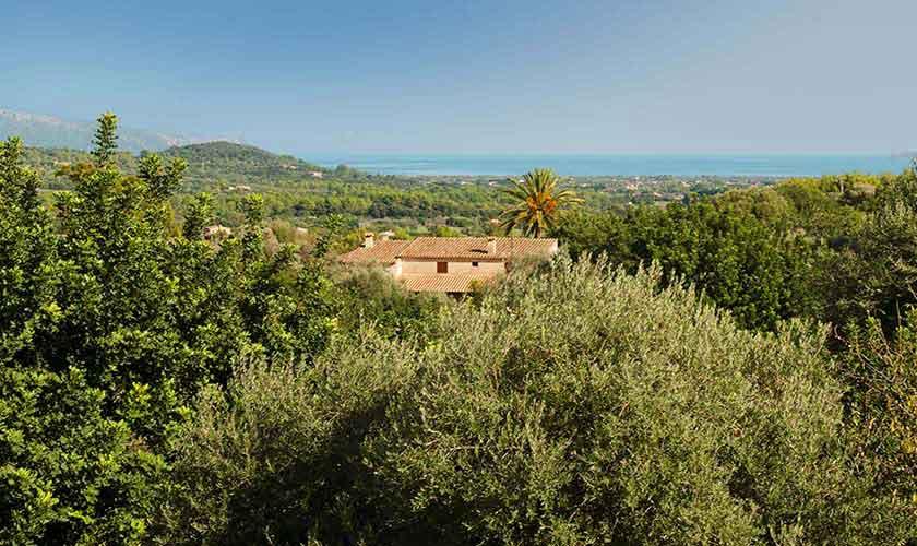 Blick in die Landschaft Ferienfinca Mallorca PM 3865