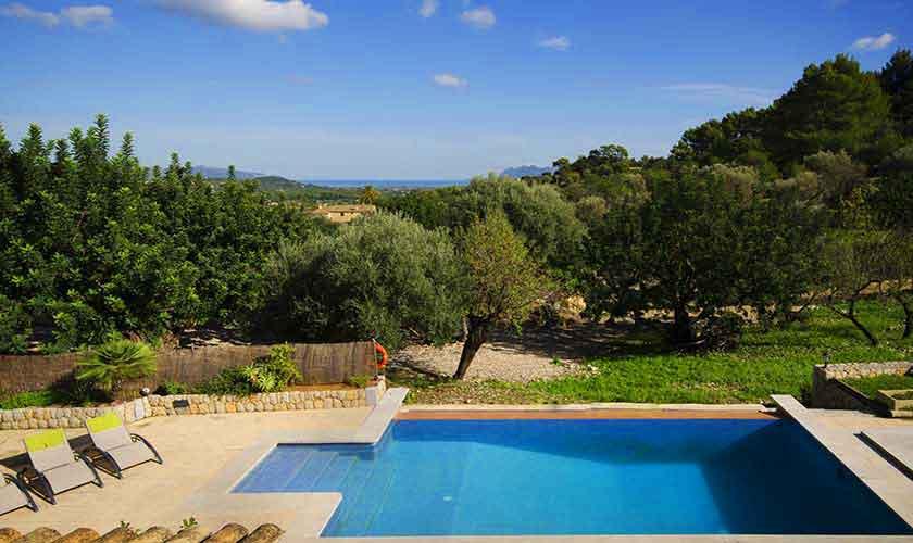 Poolblick Ferienfinca Mallorca PM 3865