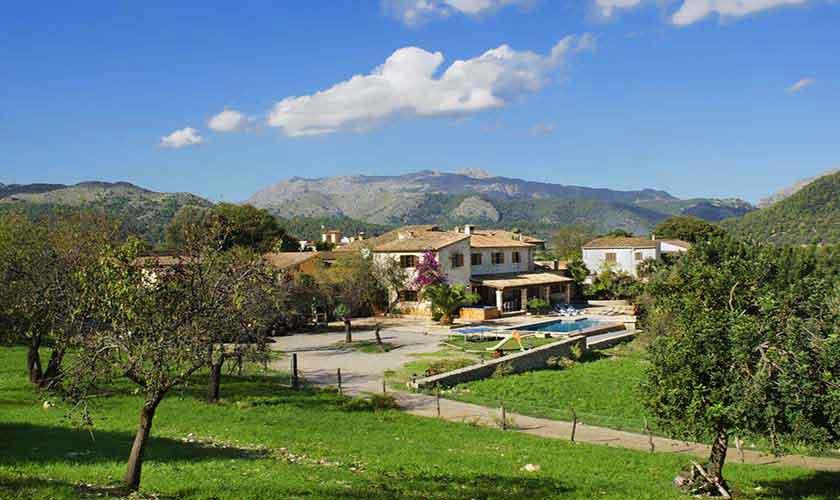 Blick auf die Ferienfinca Mallorca PM 3865