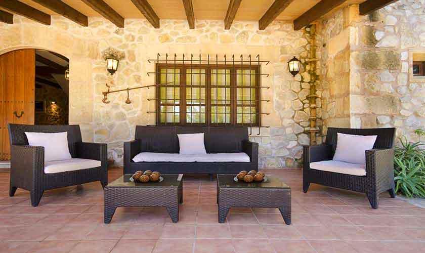 Überdachte Terrasse Finca Mallorca Norden PM 3865