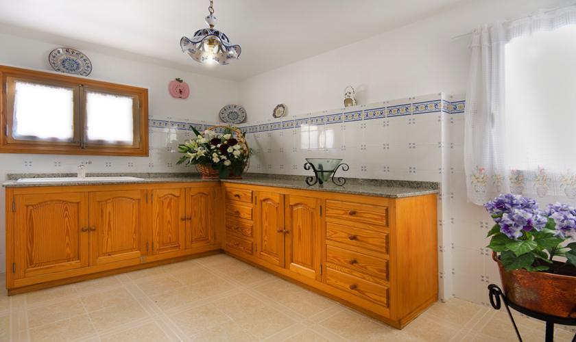 Küche Finca Mallorca mit Pool PM 3892