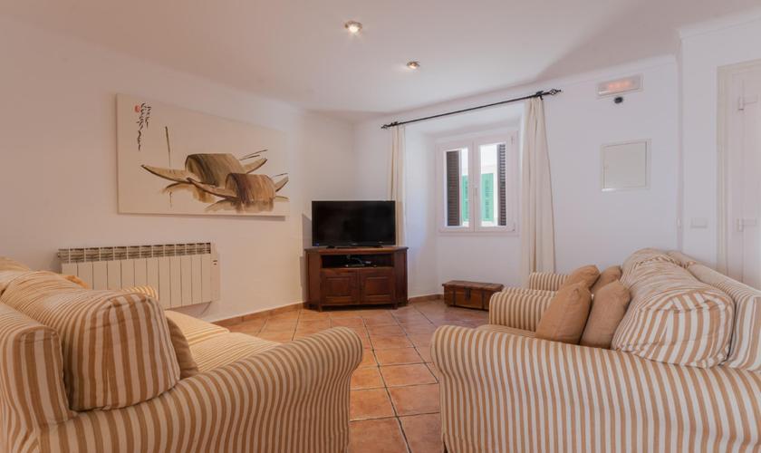 Wohnbereich Ferienhaus Mallorca Pollensa PM 3895