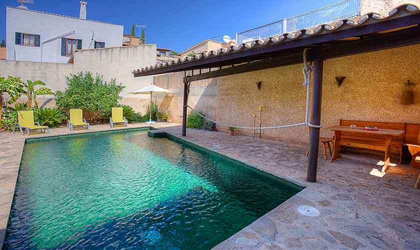 Pool im Patio Ferienhaus Pollensa 6 Personen PM 3898