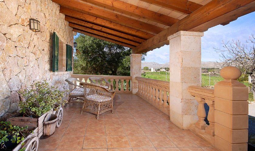 Terrasse oben Ferienhaus Mallorca Nordküste PM 3926